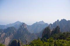 Vista impressionante surpreendente da montanha de Huangshan, Mountaing amarelo A imagem de stock royalty free