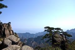 Vista impressionante surpreendente da montanha de Huangshan, Mountaing amarelo A foto de stock royalty free
