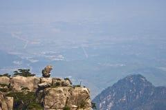 Vista impressionante surpreendente da montanha de Huangshan, Mountaing amarelo A fotos de stock royalty free