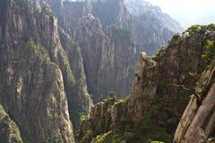 Vista impressionante surpreendente da montanha de Huangshan, Mountaing amarelo A imagens de stock royalty free
