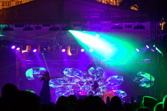 Vista incantevole da un concerto in tensione Fotografia Stock