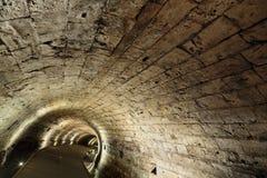 Túnel de Templar en Acco Imágenes de archivo libres de regalías
