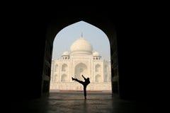 Vista incomun de Taj Mahal fotos de stock royalty free