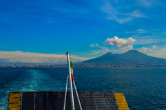 Vista incrível do Monte Vesúvio, Nápoles, Itália Fotografia de Stock Royalty Free