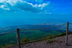 Vista incrível do Monte Vesúvio, Nápoles, Itália Imagem de Stock