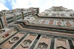 Vista incredibile con il fish-eye del campanile della cattedrale dentro Fotografia Stock Libera da Diritti
