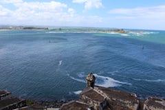 Vista incredibile dalla fortificazione Porto Rico di EL Morro fotografia stock
