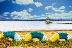 Vista indicativa del lago Tavatui, Russia fotografia stock libera da diritti