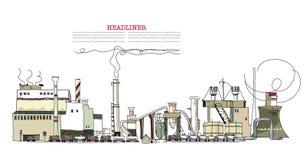 Vista industriale Fotografia Stock Libera da Diritti