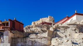 Vista inferior de ruínas de Guge Fotografia de Stock