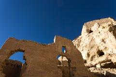 Vista inferior parcial de ruínas de Guge Foto de Stock