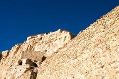Vista inferior parcial de ruínas de Guge Fotografia de Stock Royalty Free