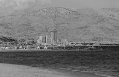 Vista infrarossa della linea costiera toscana Immagine Stock Libera da Diritti