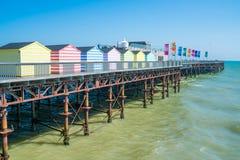 Vista inHastings di nuovi di un pilastro, Sussex orientale Il Regno Unito Fotografia Stock Libera da Diritti