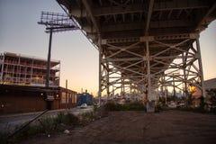Vista insolita di Manhattan fotografie stock
