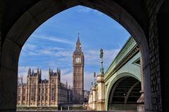 Vista interessante a Big Ben Foto de Stock
