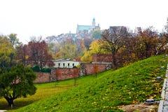 Vista interessante di vecchia città di Varsavia. La Polonia Immagini Stock Libere da Diritti