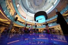 Vista interior da alameda de Dubai Foto de Stock
