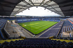 Vista interior da arena de Brondby Imagem de Stock