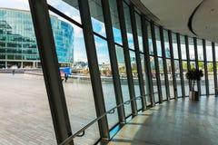 Vista interior da câmara municipal em Londres, Reino Unido imagens de stock royalty free