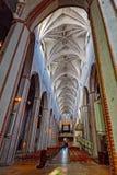 Vista interior da catedral de Turku em Turku Fotografia de Stock