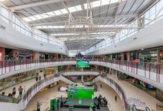 Vista interior da plaza central SALAYA Foto de Stock