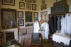Vista interior da roupa do vintage em els Calderers d San Juan de Camino d, Majorca, a ilha a maior da Espanha, Europa no Medite Imagem de Stock