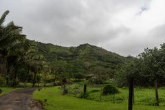 Vista interior de Kauai no inverno, Havaí foto de stock
