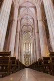 Vista interior de la abadía de Batalha Santa Maria da Vitoria Dominican Foto de archivo libre de regalías