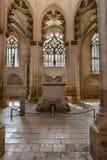 Vista interior de la abadía de Batalha Santa Maria da Vitoria Dominican Fotografía de archivo libre de regalías