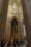 Vista interior de la abadía de Batalha Santa Maria da Vitoria Dominican Imagen de archivo