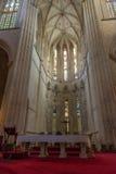 Vista interior de la abadía de Batalha Santa Maria da Vitoria Dominican Imagen de archivo libre de regalías