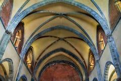 Vista interior de la abadía de di San Micaela-Santo Michael de los sacros Fotografía de archivo