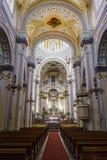 Vista interior de la capilla de Jesus Nazareno (Parroquia De Nues Imagen de archivo libre de regalías