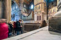 Vista interior de la catedral de Monreale Imagenes de archivo