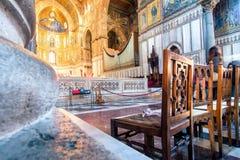 Vista interior de la catedral de Monreale Imagen de archivo