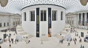 Vista interior de la gran corte en British Museum en Londres Imágenes de archivo libres de regalías