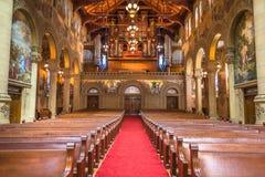 Vista interior de la iglesia conmemorativa, Stanford University Imágenes de archivo libres de regalías