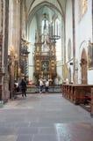 Iglesia de la madre de dios antes del ½ n de TÃ en Praga Imagen de archivo