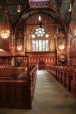 Vista interior de la iglesia del sur vieja, Boston, 2014 Fotografía de archivo