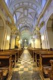 Vista interior de la iglesia en la abadía benedictina en Tyniec, Pola Imagen de archivo libre de regalías
