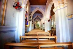 Vista interior de la iglesia MangLang foto de archivo libre de regalías
