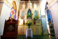 Vista interior de la iglesia MangLang fotos de archivo libres de regalías