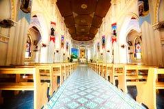 Vista interior de la iglesia MangLang imágenes de archivo libres de regalías