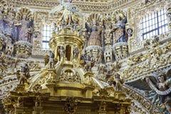 Vista interior de la iglesia de Santo Domingo imagen de archivo libre de regalías