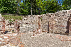 Vista interior de los baños termales antiguos de Diocletianopolis, ciudad de Hisarya, Bulgaria Imagen de archivo libre de regalías