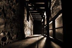 Vista interior de um castelo fotos de stock