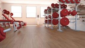 Vista interior de um gym Foto de Stock