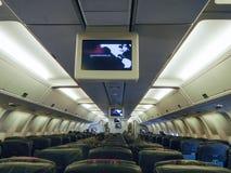 Vista interior de un aeroplano Fotografía de archivo
