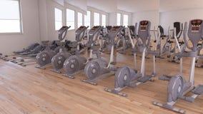 Vista interior de un gimnasio Fotos de archivo libres de regalías